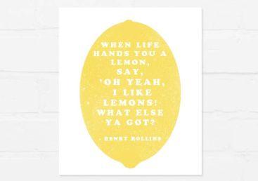 be lemons