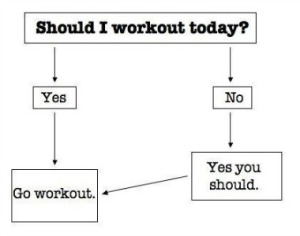 should you work out today